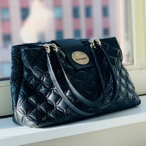 Black Quilted Leather Purse